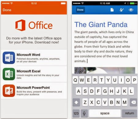 MS Office on Mobile phones
