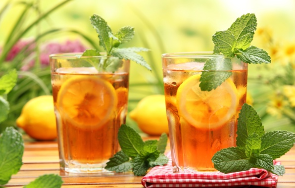 iced pepper mint tea