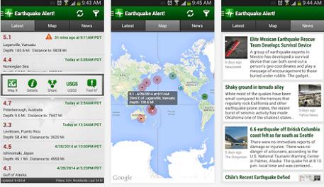 earthquake app for alert