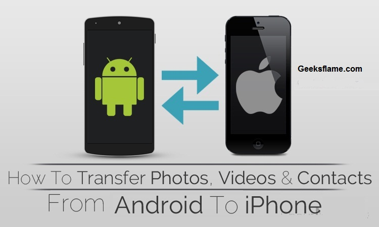 send pictures from android to iphone how to transfer data from android to iphone easily 19454
