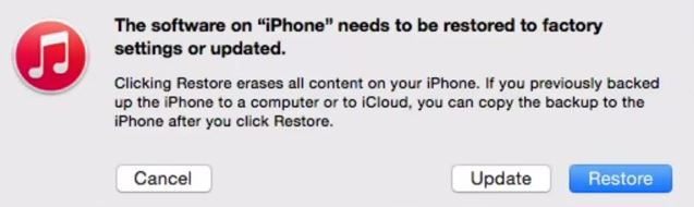 restore iphone without password