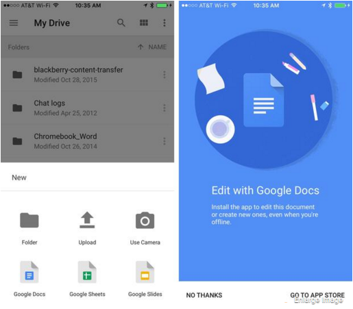 how to use google drive on android ios