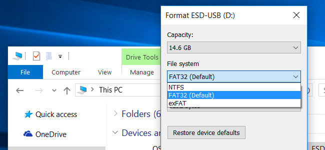 ntfs, fat32, exfat difference