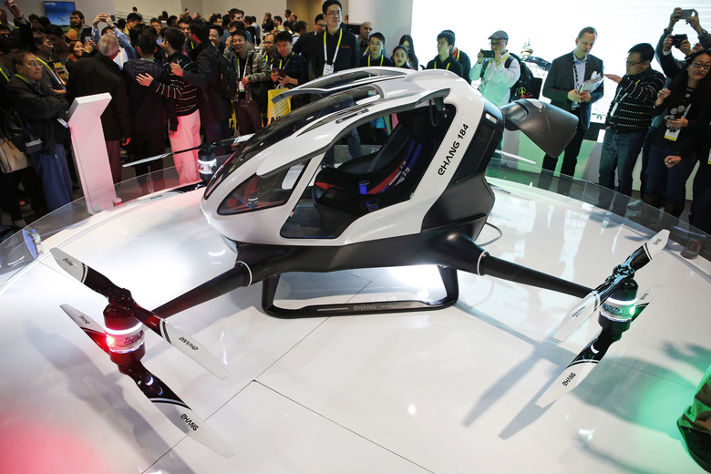 Chinese Drone Maker Reveals Human-Carrying Drone