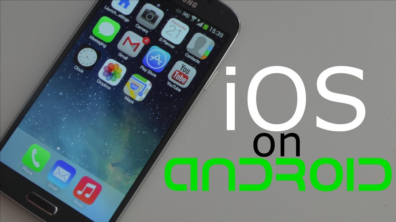 how to get ios on an android