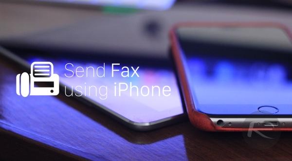 send fax using iphone
