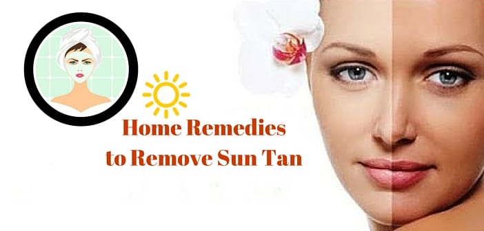 Remove Sun Tan naturally