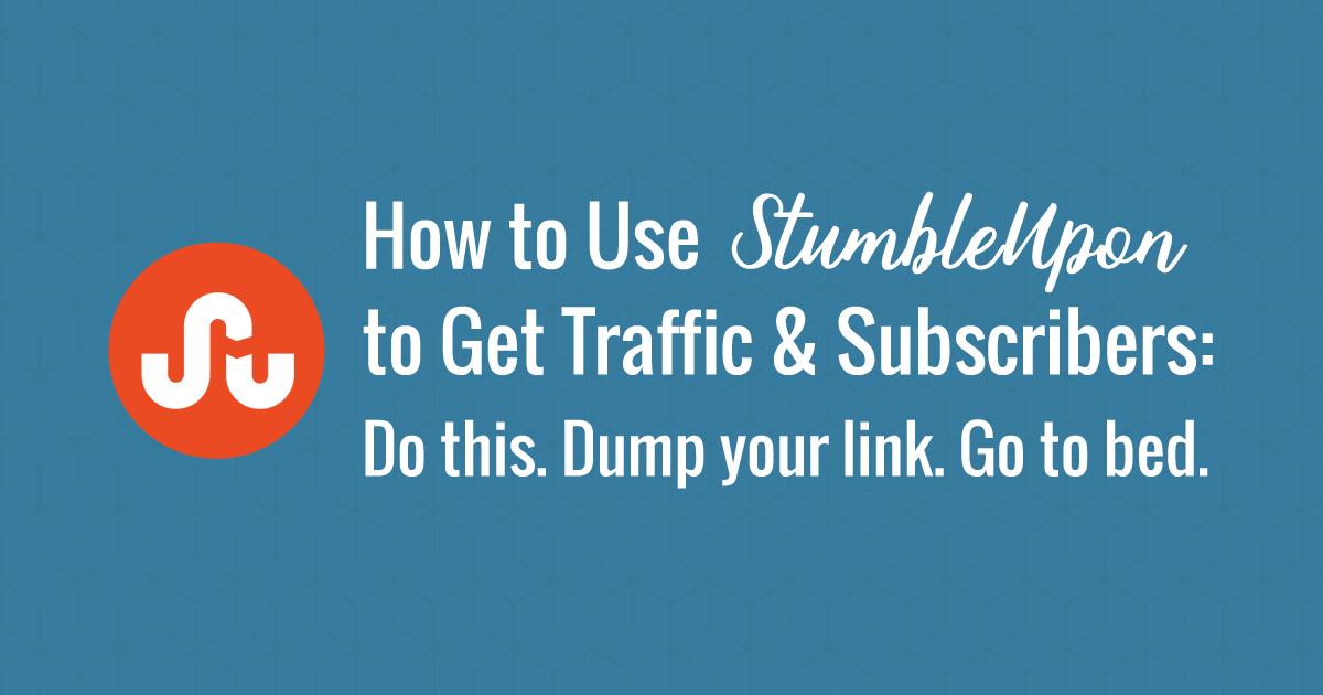 use-stumbleupon-to-get-traffic on site